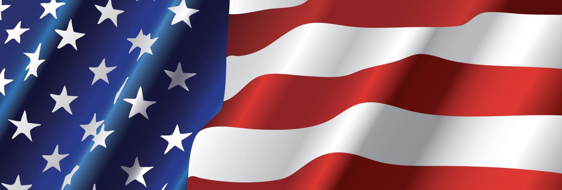 US Flag banner