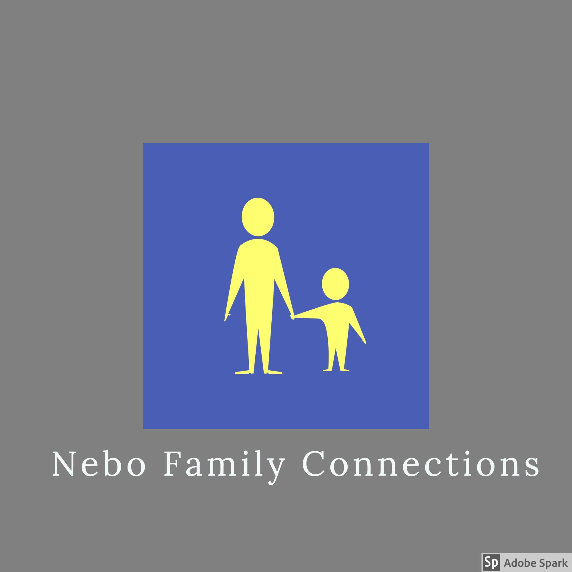 adult and child holding hands icon Nebo Family Connections