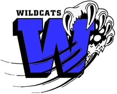 Wildcat Logo blue W and claw swiping