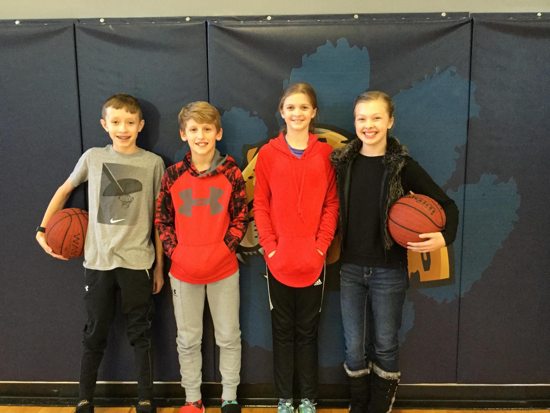 Hoop Shoot Winners