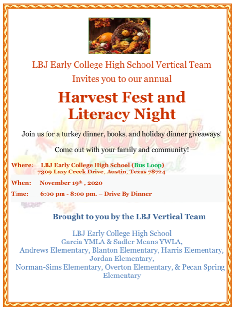 Harvest Fest and Literacy NIght Drive by Dinner Featured Photo