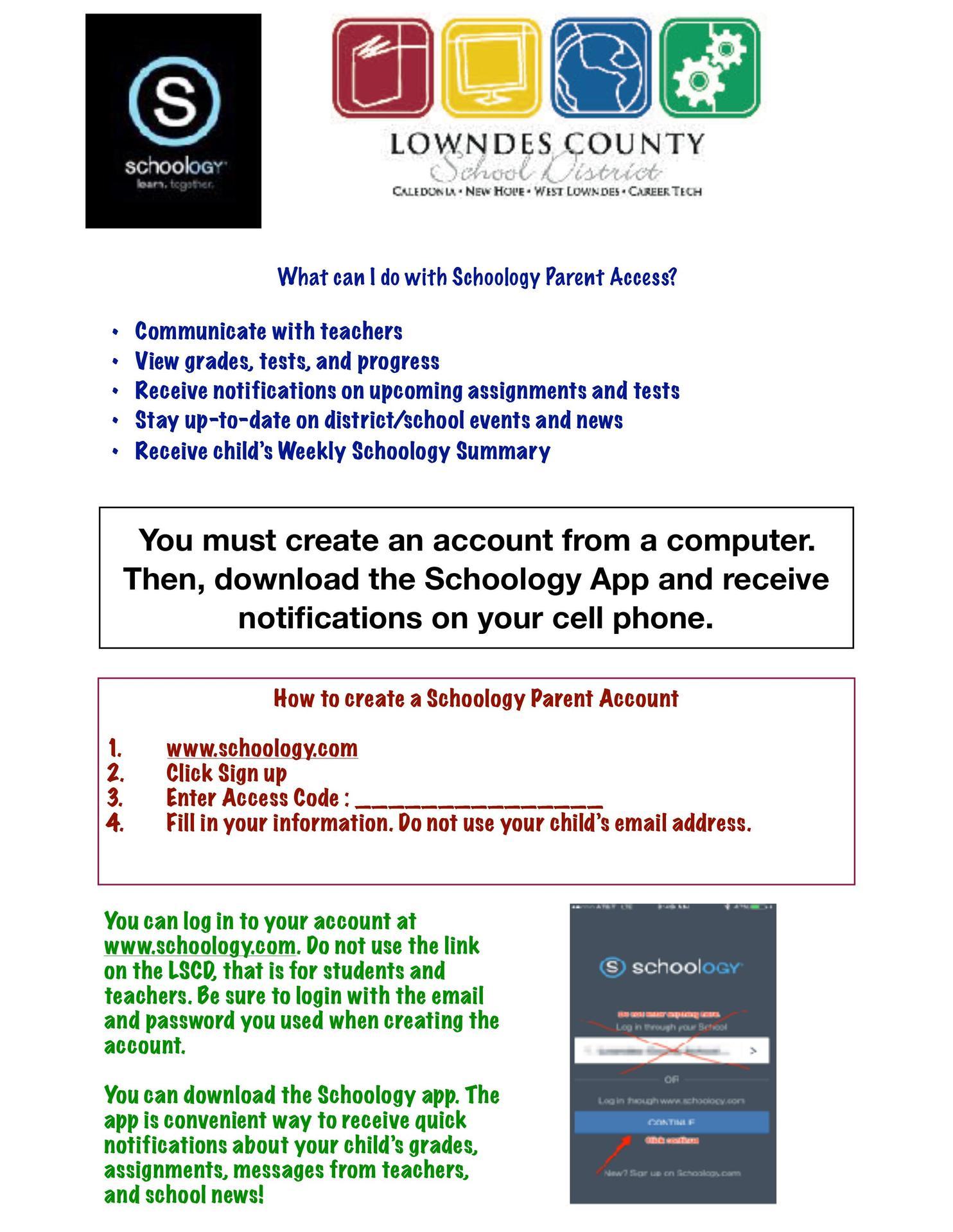 schoology site info