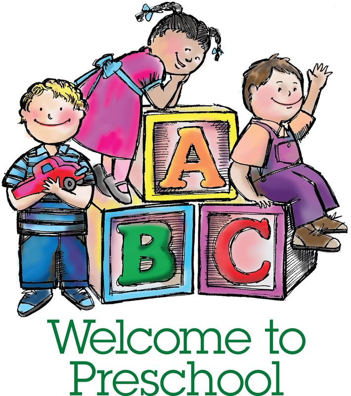 Clip art of kids at preschool