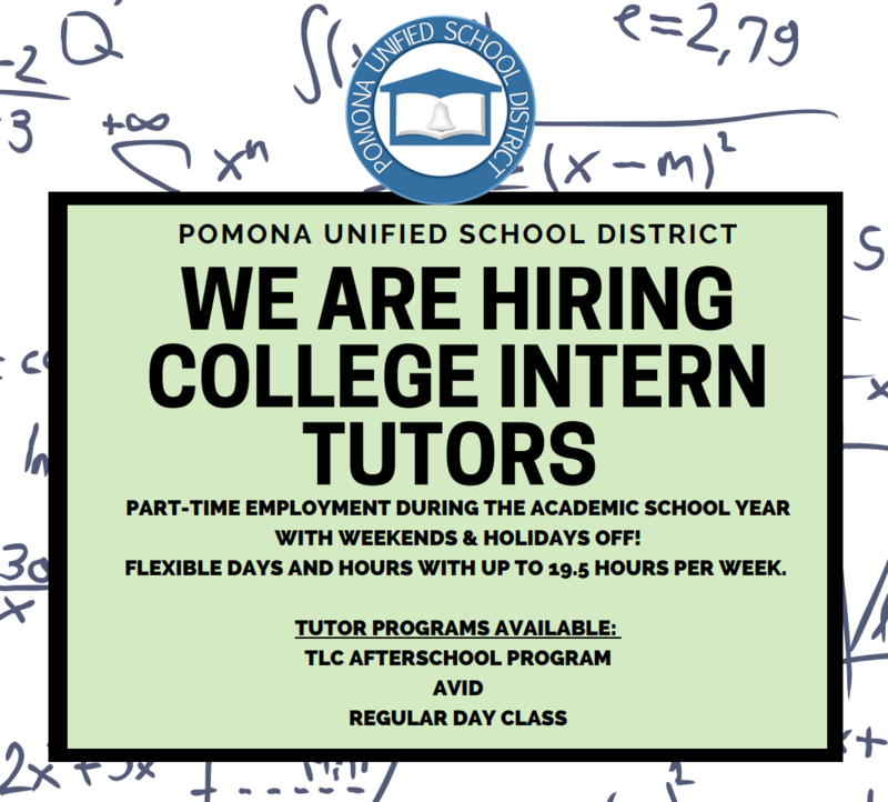 WANTED: College Intern Tutors Featured Photo