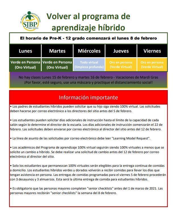 Return to Hybrid - Spanish
