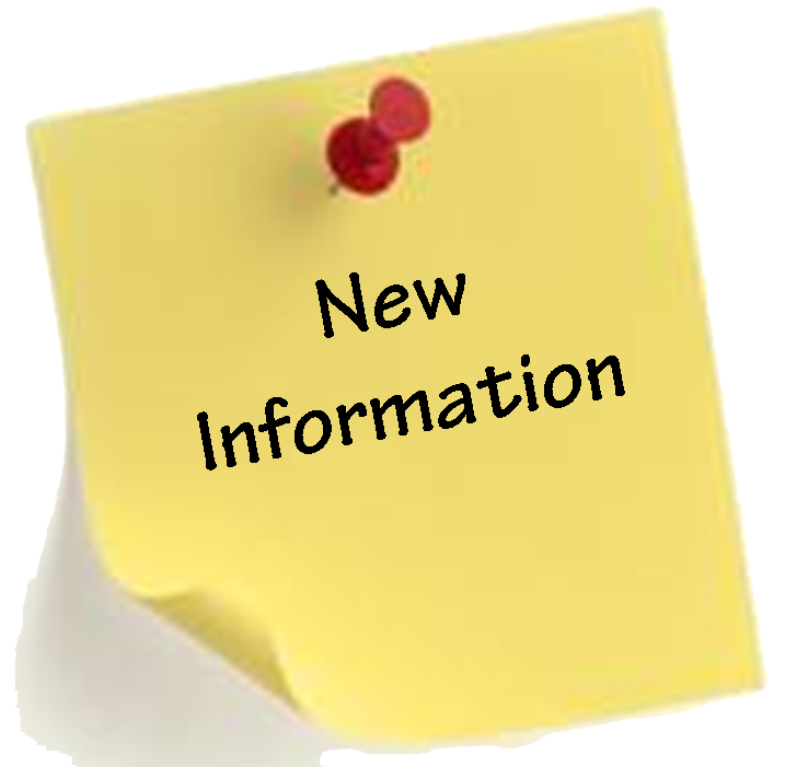 NEW INFORMATION UPDATES