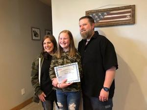 cheney federal credit union betz student of the month Bella Wold