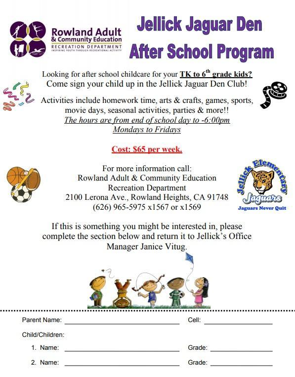 Jellick Jaguar Den After School Program Thumbnail Image