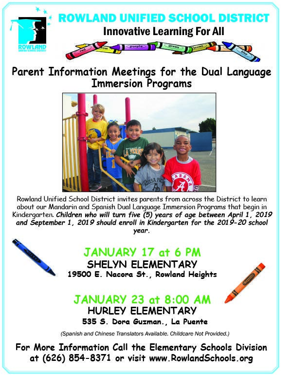 Dual Language Parent Meeting
