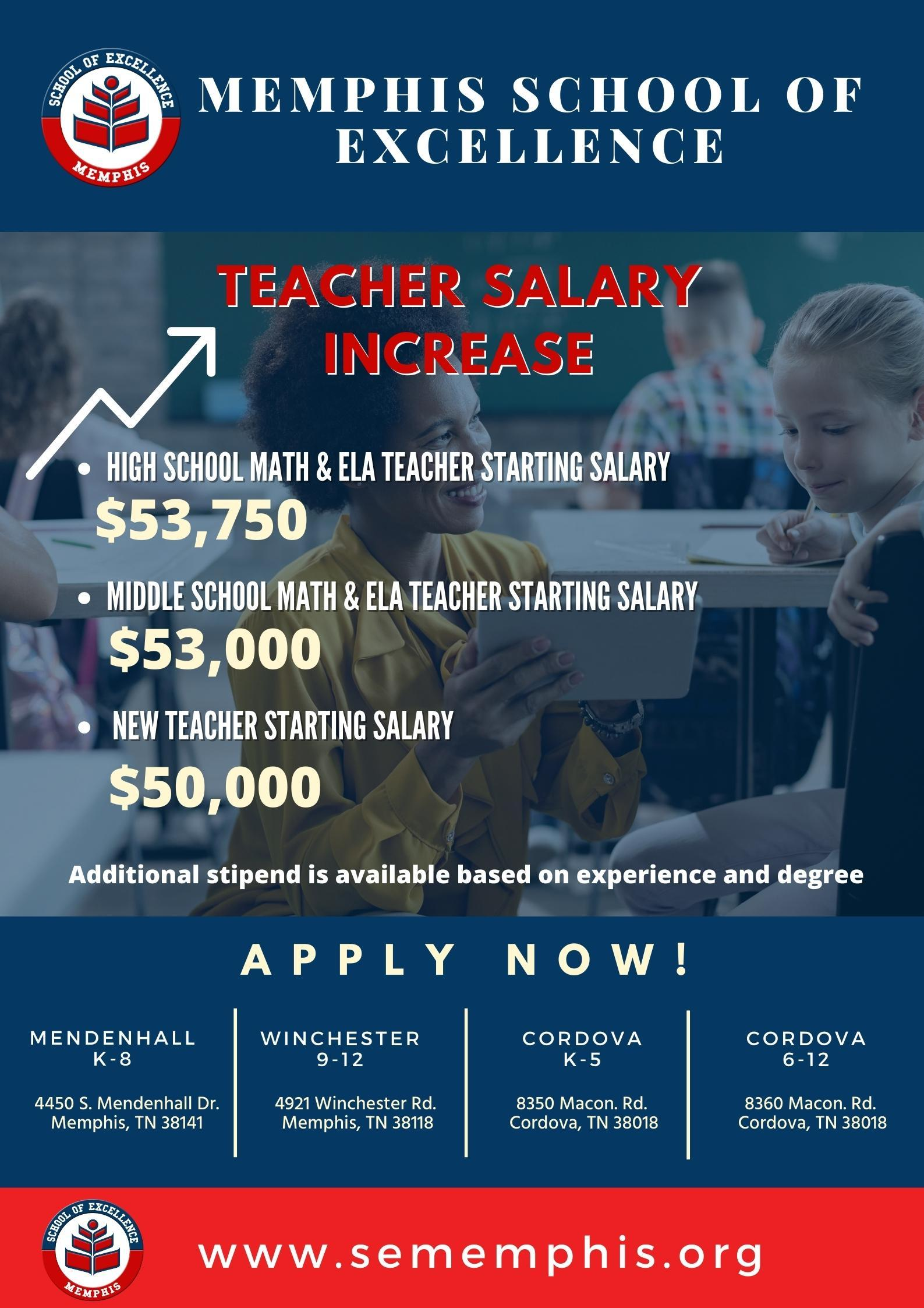 Salary Increase for 2021-22 School Year