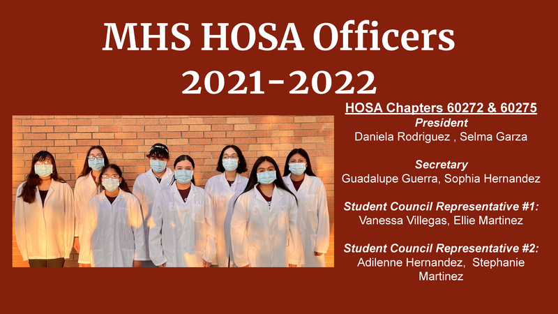 MHS HOSA Officers 2021-2022 Featured Photo