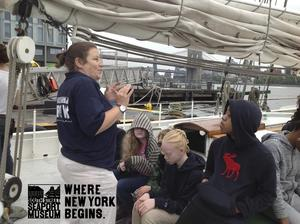 Students on the schooner getting instructions