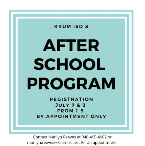 after school program registration graphic