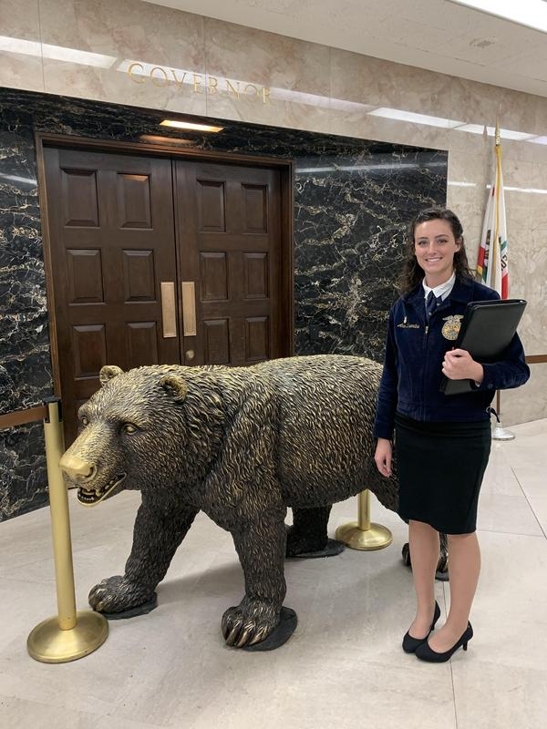 Kern Valley FFA student taking part in the Sacramento Leadership Experience