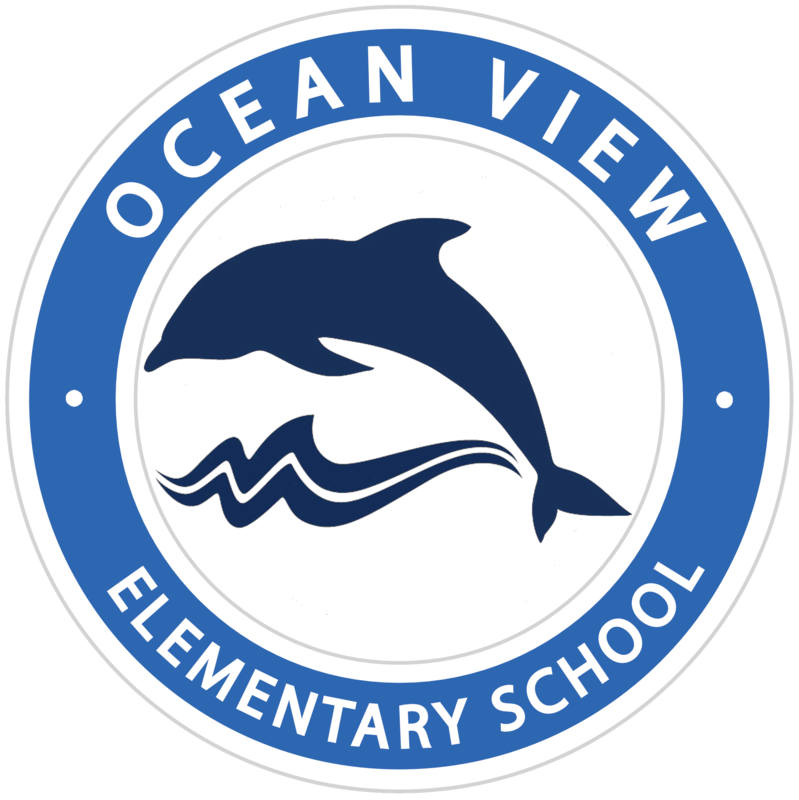 Ocean View Elementary with a dolphin