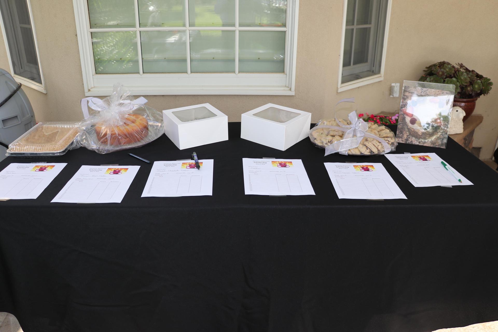 Auction Items at the 2019 Janessa Ramirez Scholarship Awards Dinner