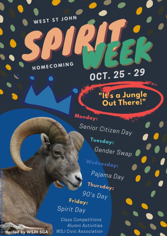 Homecoming, Spirit Week Flyer Thumbnail Image