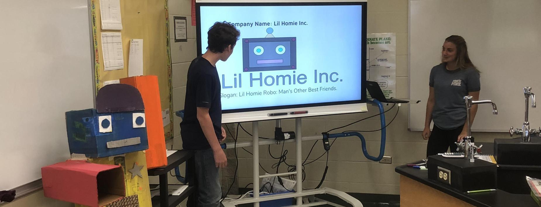 Using a smartboard for a class presentation