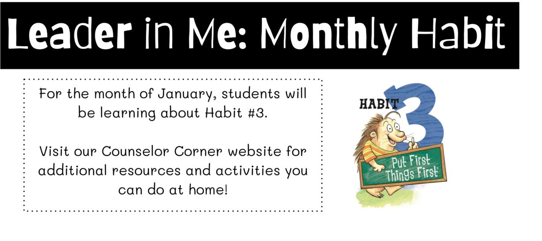 Leader in Me- Monthly Habit