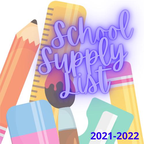 2021-2022 School Supply List Featured Photo
