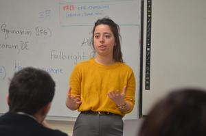 Allison Zuckerman teaching PJ