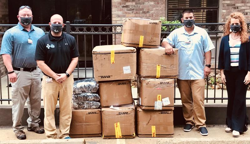 Rush Health Systems Masks Donation Delivery Day Photo