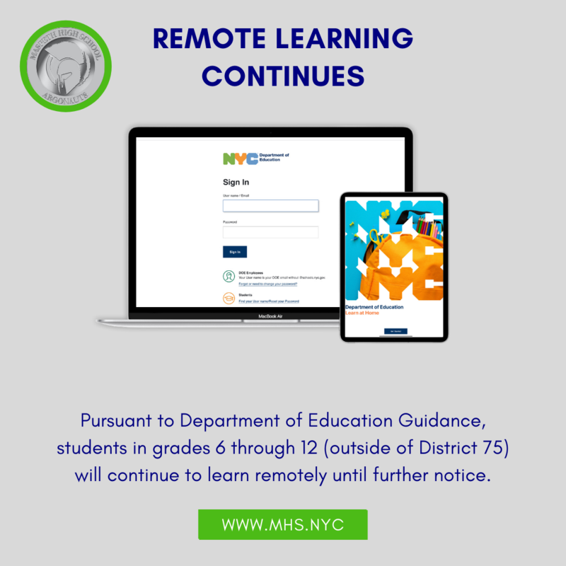Remote Learning Continues