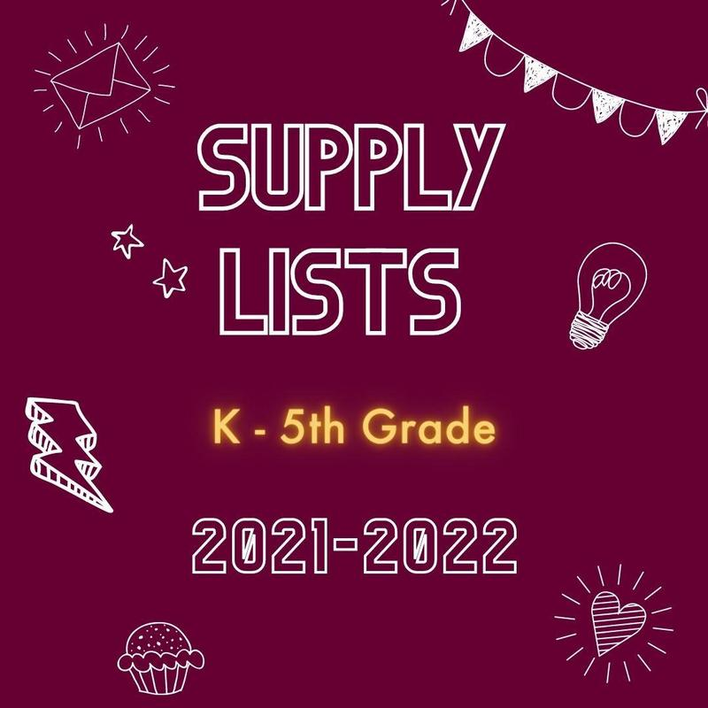 2021-2022 Supply Lists Featured Photo