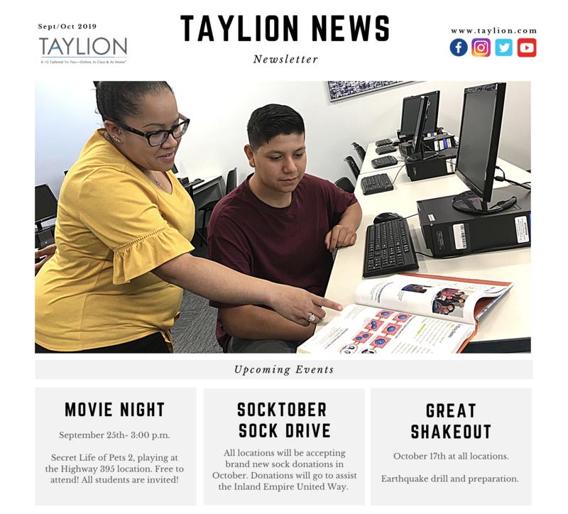Newsletter, teacher helping student at computer