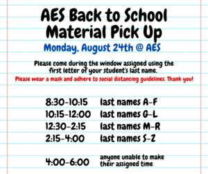 pick-up schedule