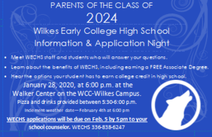 WECHS Info Night Jan 28