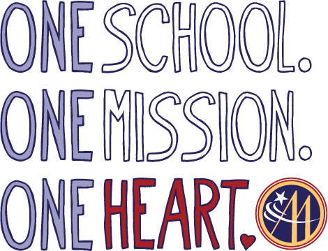 Logo for One School One Mission One Heart