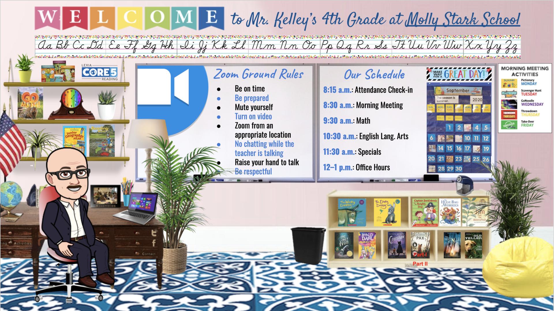 Mr. Kelley's Bitmoji Classroom