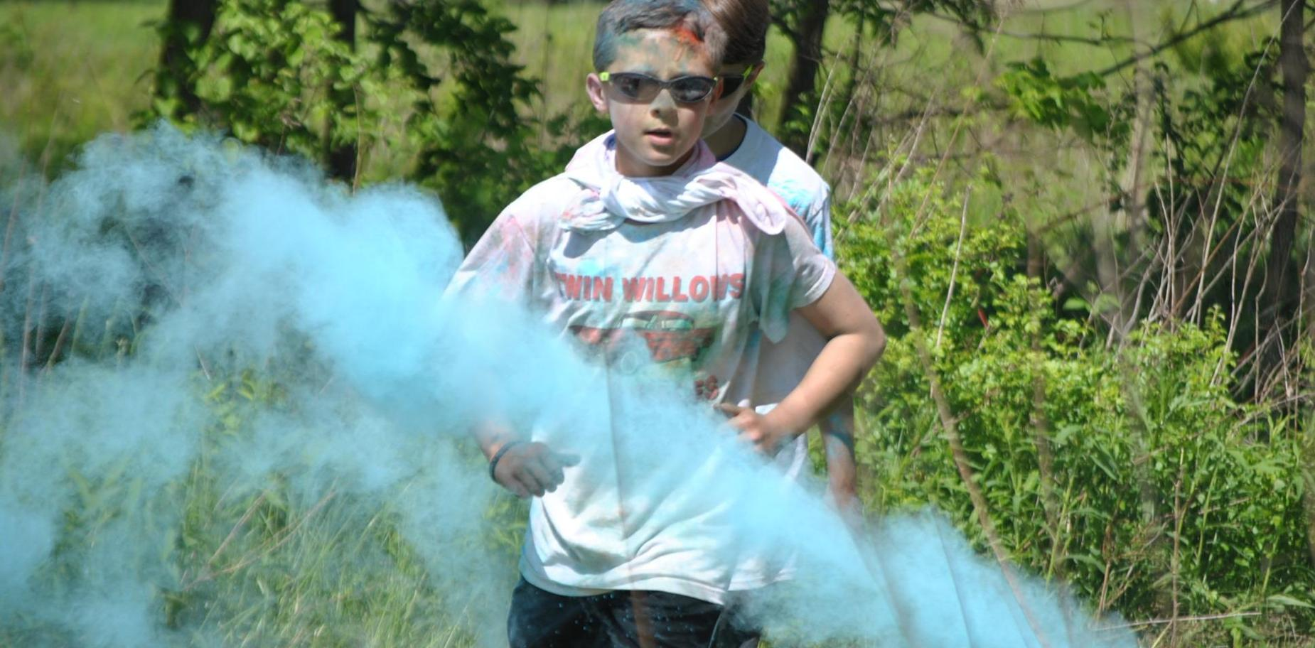 Boy at Color Run