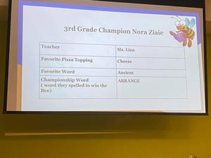 Spelling Bee 2019-2020