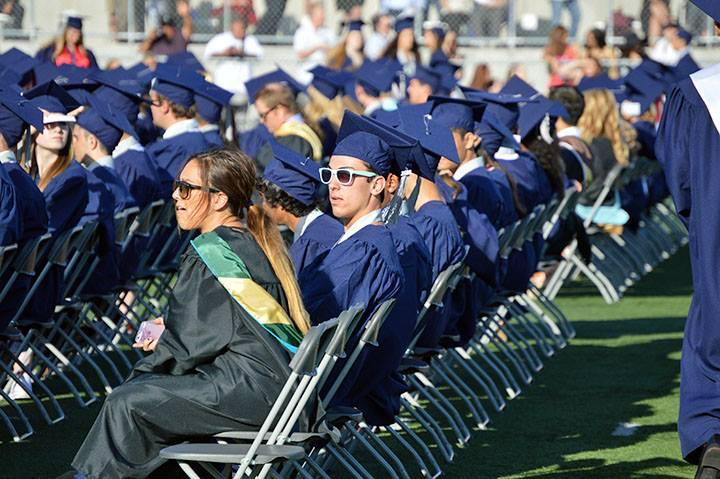Senior students during graduation