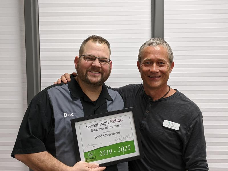 QHS Educator of the Year!  Congratulations Todd Overstreet! Thumbnail Image