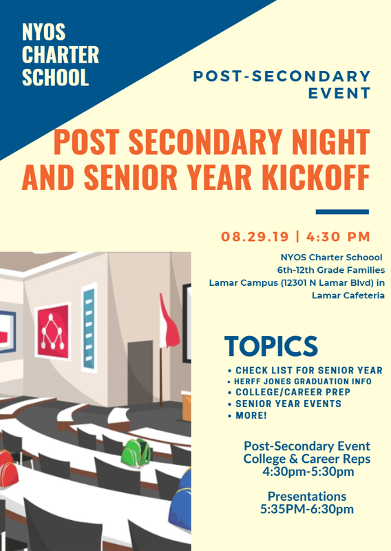 Post-Secondary Night Flyer