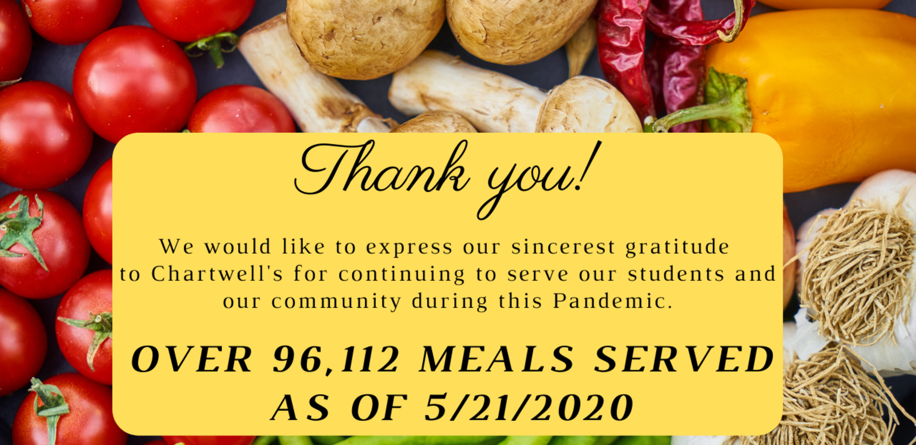 Chartwell's Serves over 96,000 meals during COVID19 school closure