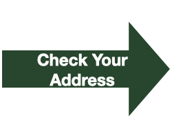 "Green Arrow with White Text that Reads ""Check Your Address"""