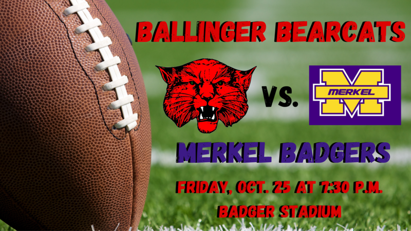 Ballinger Bearcats vs. Merkel Badgers