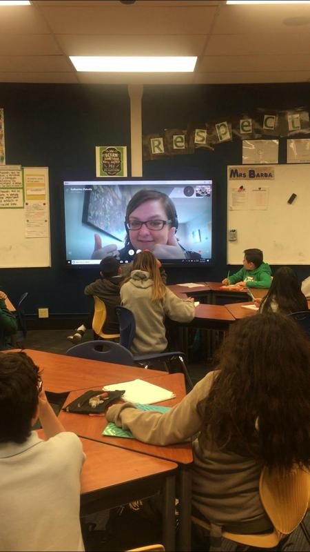 Students using Skype Field Trip