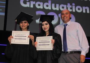 TEAM School graduates receiving scholarships