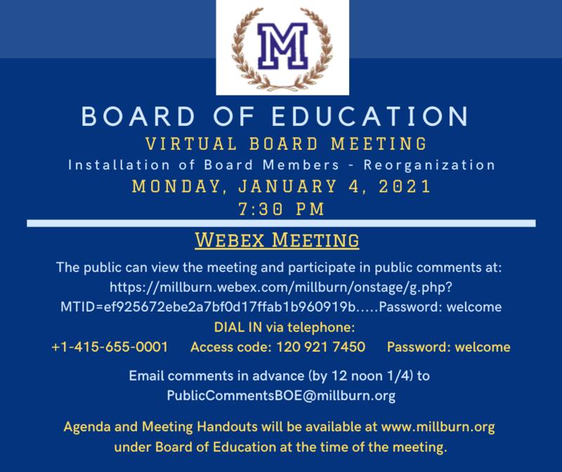 board announcement