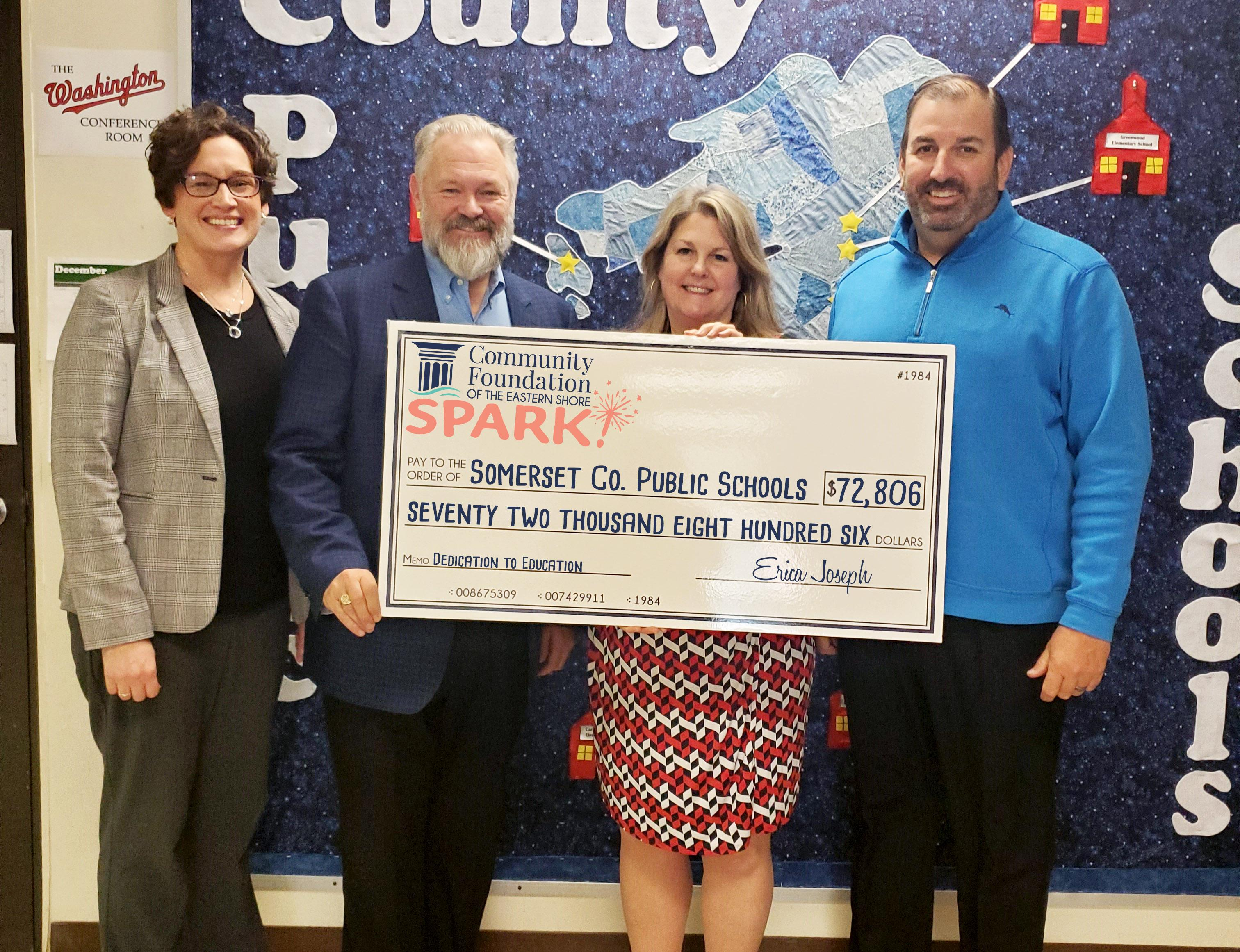 check presentation photo to somerset county