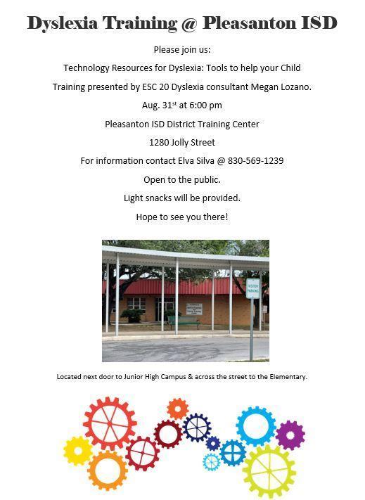 Parent Training August 31 at 6PM
