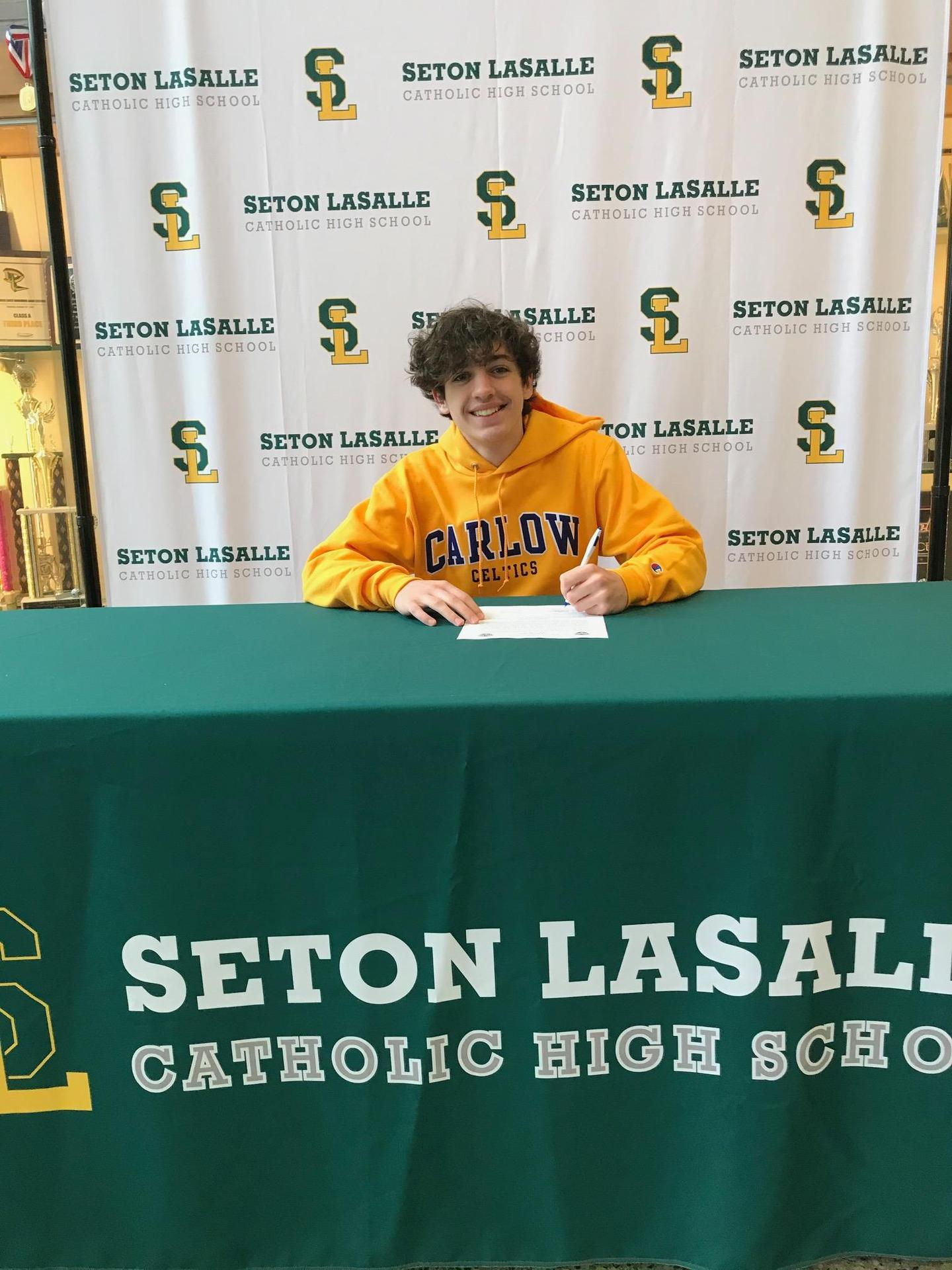 Senior signs letter of intent to play soccer at Carlow University