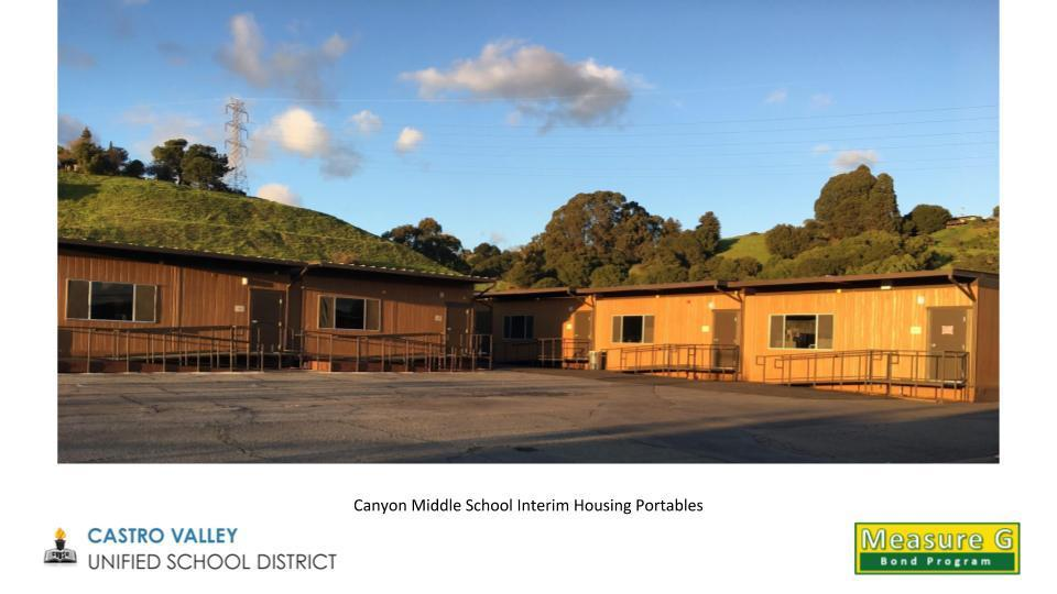 Canyon Middle School Interim Housing Portables