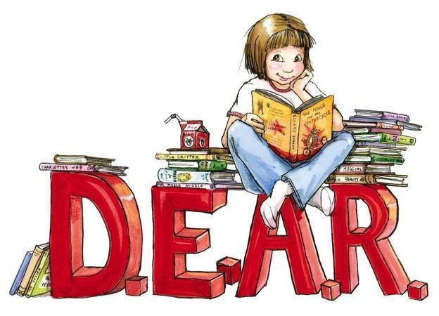 DEAR Logo - Ramona  reading a book