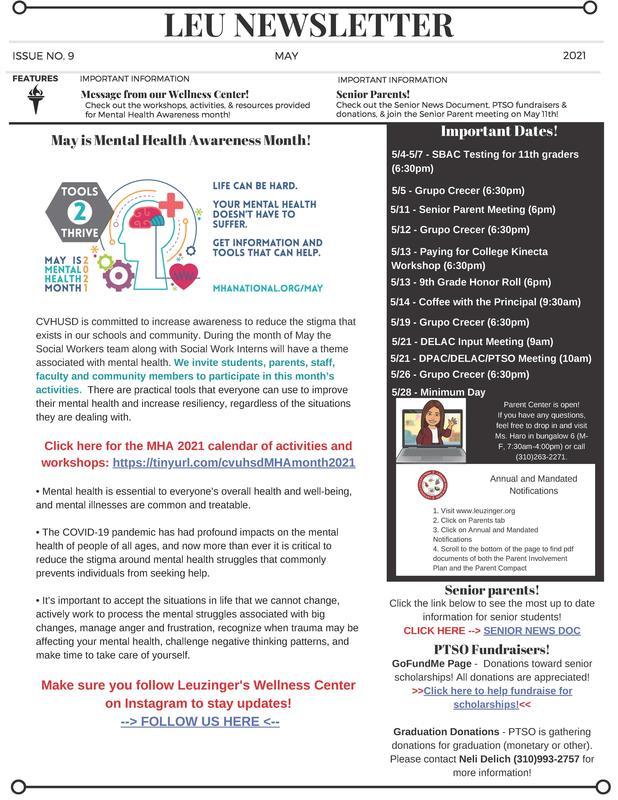 May Leu Newsletter